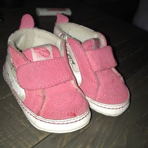 Vans crib baby shoes size 2